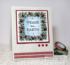 Wreath: Boxwood and Cranberry Digital Stamp Set   Power Poppy by Marcella Hawley