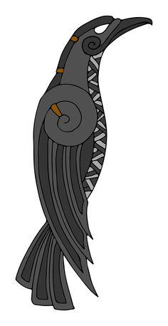 Norse Tattoo, Raven Tattoo, Celtic Tattoos, Viking Tattoos, Viking Art, Viking Runes, Chakra Symbole, Costume Viking, Raven Art