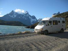 Sprinter 313 CDI camper van in Torres del Paine National Park. Amazing territory! (photo: Cris Torlasco)