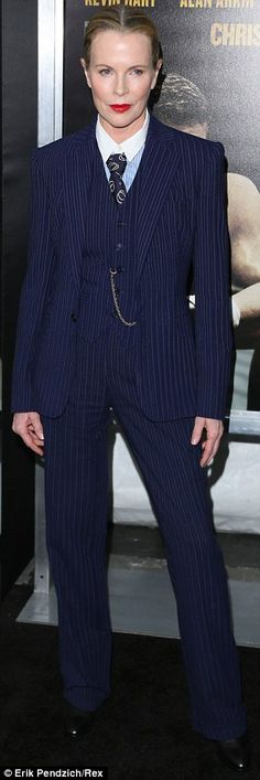 Tailored three piece suit with pinstripes-I love this look! #menswear