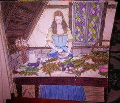 Outlander Coloring Book -- Geillis