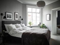 elegantti-mustavalkoinen-sisustus-makuuhuone-harmaa