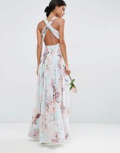 Romantic Rose Print Maxi Bridesmaid Dress - Chic Vintage Brides : Chic Vintage Brides