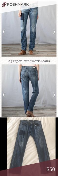 AG piper patchwork jeans Sz 30 Ag piper patchwork jeans 💕Sz 30 R AG Adriano Goldschmied Jeans Boyfriend
