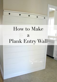 Easy DIY ship-lap wall, a simple way to makeover your entryway. A budget friendly way to add a farmhouse style to your home. # DIY Home Decor farmhouse style How to Make a Plank Entry Wall Home Renovation, Home Remodeling, Kitchen Remodeling, Entry Wall, Split Foyer Entry, Plank Walls, Ship Lap Walls, Easy Home Decor, Entryway Decor