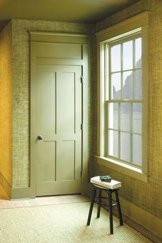 8 Foot Interior Pocket Door. Painted Interior Door, We Absolutely Love The  Molding Theyu0027ve Used To Craft The