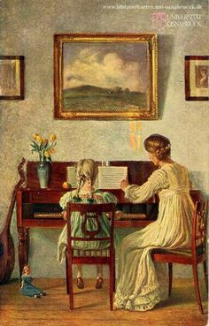 «The First Music Lesson», Karl Harald Alfred Broge (1870-1955)