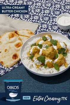 This ultra-creamy butter chicken may even be your future favourite recipe. Juicy and rich in flavours, our recipe makes Indian food a cinch! Try it out, you won't regret it. Entree Recipes, Indian Food Recipes, Asian Recipes, Dinner Recipes, Cooking Recipes, East Indian Food, Indian Foods, Carrot Bread Recipe, Turkey Dishes