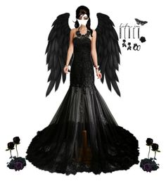 """Black Dress"" by ac-awesome ❤ liked on Polyvore featuring Valentino"