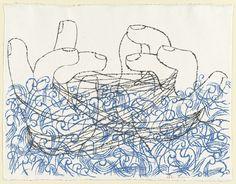 Cat's Cradle. sheet: 20 x 26 x 67 cm). probably Ben Shahn. probably Ben Shahn. Drawings and Prints Walker Evans, Art And Illustration, Artist Painting, Painting & Drawing, Ben Shahn, Harvard Art Museum, Animal Design, Metropolitan Museum, American Artists