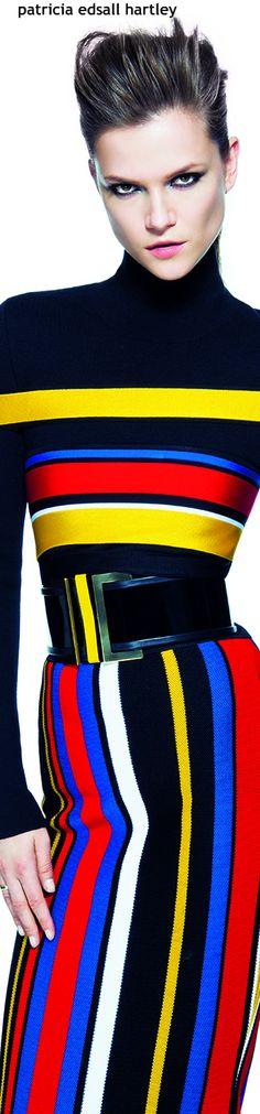 Kasia Stuss in Balmain for Vogue Brazil June 2015 Rainbow Fashion, Colorful Fashion, Vogue Brazil, World Of Fashion, Editorial Fashion, Creations, Clothes For Women, My Style, Womens Fashion