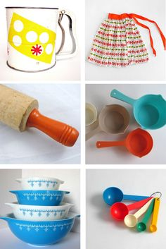 Vintage cooking and baking