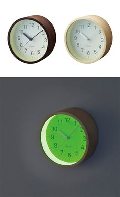 'lumino wall clock' from neo utility glows in the dark