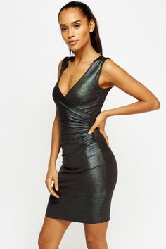 Metallic Ruched Bodycon Dress Girls Night Out, Cheap Dresses, Well Dressed, Turning, Metallic, Bodycon Dress, Fancy, Events, Sexy