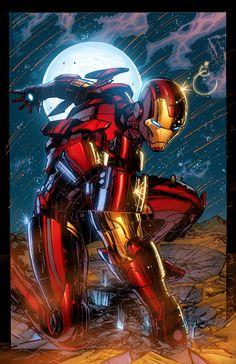 Oniric Realms : comicbookartwork: ⌘ Iron Man by Mario Gully ⌘ Photo✌ Ms Marvel, Marvel Comics Art, Marvel Heroes, Marvel Characters, Marvel Avengers, Iron Men, Iron Man Pictures, Les Innocents, Iron Man Art