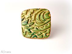 GOLDFINGER - Polymer Clay Ring by Studio Artesania