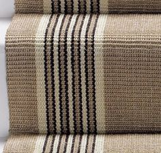 Kersaint Kobb Tetouan 27 inch Sisal Stair Runner - Cream and Black Sisal Stair Runner, Staircase Runner, Stair Runners, Victorian Stairs, Victorian Terrace, Modern Victorian, Staircase Makeover, Staircase Remodel, Stair Landing