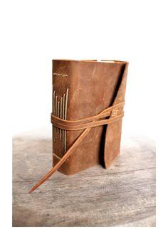 Wooden Ship - Large Handstitched Leather Journal
