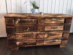 Badezimmerschrank hoch ~ Antik teak massivholz kommode sideboard tv hoch schrank vintage