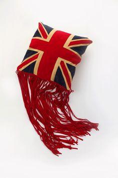 Tasselled Union Jack Pillow