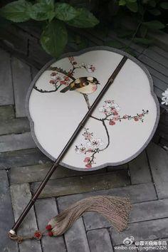 Chinese Fan K'o-ssu & Embroidery Circular Fan缂丝团扇 Copyright©️霜天晓角李晶 Lijing/ back view