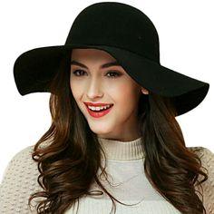 Grand chapeau noir ondule vintage retro gothique fashion sorciere > JAPAN ATTITUDE - ACCCHA326   Shop : www.japanattitude.fr