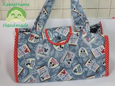 Bolsa Sacola Mickey by KameHameHandmade on Etsy, ¥5550