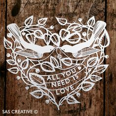 Samantha's Papercuts: All You Need is Love