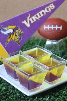 Best Minnesota Vikings Jell-O Shots Recipe-How to Make Minnesota Vikings Jell-O Shots-Delish.com Football Tailgate, Football Snacks, Football Season, Tailgating, Football Recipes, Football Parties, Football Birthday, Viking Birthday, 15th Birthday