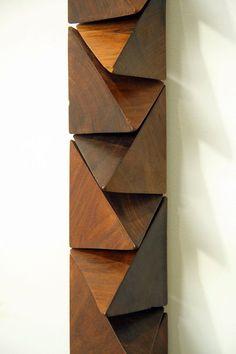 Wall sculpture #17 by Zanini de Zanine Metal Wall Sculpture, Abstract Sculpture, Wall Sculptures, Sculpture Art, Wood Block Crafts, Wood Projects, Vintage Furniture Design, Cube Design, Metal Artwork