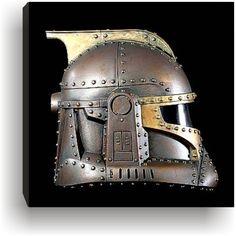 Steampunk  Clone Trooper Bronze& Copper  Helmet profile by kyoob, $25.00