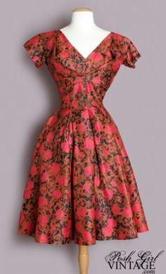 vestidos dos anos 50