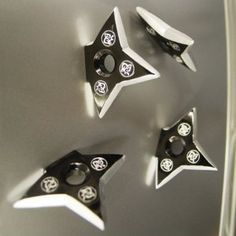 I will see your throwing knife fidge magnet and raise you Ninja Pro Throwing Star/Shuriken Magnet- PIECES! Shuriken, Fridge Stickers, Ninja Star, Cheap Christmas Gifts, Game Room, Household, Room Decor, Cool Stuff, Office Accessories