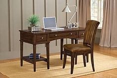 Hillsdale Furniture Gresham Desk with Chair in Cherry