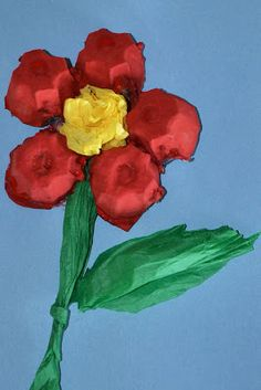 Egg Carton Flowers & other flower crafts