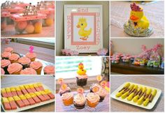 Princess Rubber Ducky Theme 2nd Birthday Party ... Rubber duck, recycled plastic baby food container, tiara, crown, pink and yellow