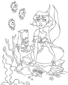 "Ernestine Matthes on Instagram: ""Another drawing for my Mermaid coloring book.  #art #artwork #illustration_best #draw #drawing #illustrationoninstagram #illustrationgram…"" Mermaid Coloring Book, Mermaid Artwork, Coloring Books, Book Art, Drawings, Illustration, Instagram, Vintage Coloring Books, Sketches"