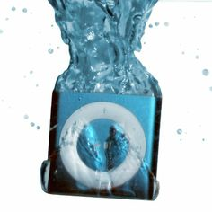 NEW BLUE - 100% WATERPROOF Apple iPod shuffle - waterproofed by UNDERWATER AUDIO for swimming, surfing and dancing in the rain ***NOTE: Wate...