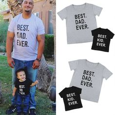 Daddy Son Family Matching Shirts Father Men Kids Summer Tops T Shirt Basic Tees Daddy And Son, Father And Son, Matching Family Outfits, Matching Shirts, Basic Tees, Good Good Father, Summer Kids, Kids And Parenting, Baby Kids