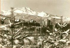 Nordland fylke Narvik fra Parken mot Royal Hotell og Skjomenfjellene utg Normann brukt 1952