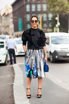 Tell me about your outfit, what you are wearing? - Im wearing a sweater from Acne Studio, bag...