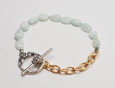 Hand-knotted aquamarine on silk 12k gold fill and by zsjewelry