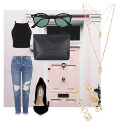 """""""Exited for Summer """" by vanessagutaj on Polyvore featuring Topshop, Steve Madden, Ray-Ban, Forever 21, women's clothing, women, female, woman, misses and juniors"""