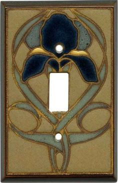 Mosaic Iris Ceramic - 1 Toggle Light Switch Plates & Outlet-Rocker plates in stock. Decorative Light Switch Covers, Switch Plate Covers, Light Switch Plates, Craftsman Interior, Craftsman Style, Craftsman Decor, Craftsman Houses, Sears Craftsman, Craftsman Lighting