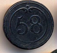 Cincin19 Belle Bouton Infanterie de Ligne regiment nº58,Grand modele   eBay