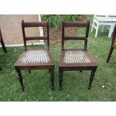 AN AFRICANA VICTORIAN CAPE RIEMPIE CHAIR....please note there are 2 and bidding is per each for R2,300.00