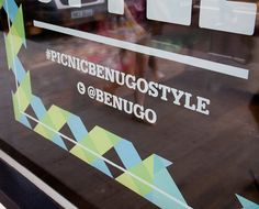 Window decal designed by ico for Benugo.