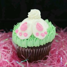 Bunny tails cupcake- Jillys in St. Louis