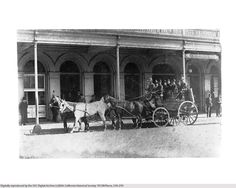 Stagecoach at Pico House, Los Angeles, ca.1884