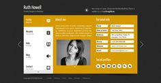Best Profile Page Vcard Wordpress Themes Premium and Responsive Yellow Black White http://www.wpthm.com/wordpress/vcard